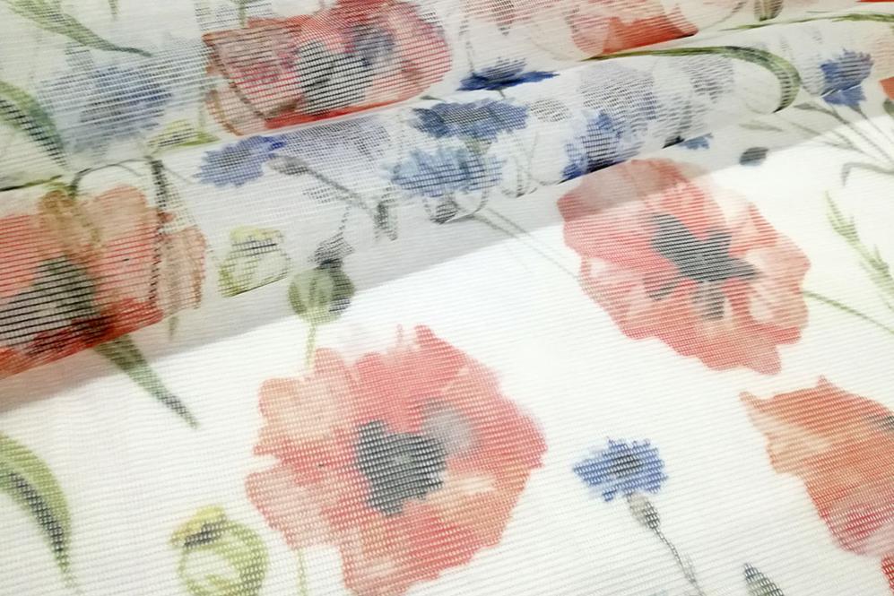 Moskitonetz-Stoff - Mohnblüten-Traum