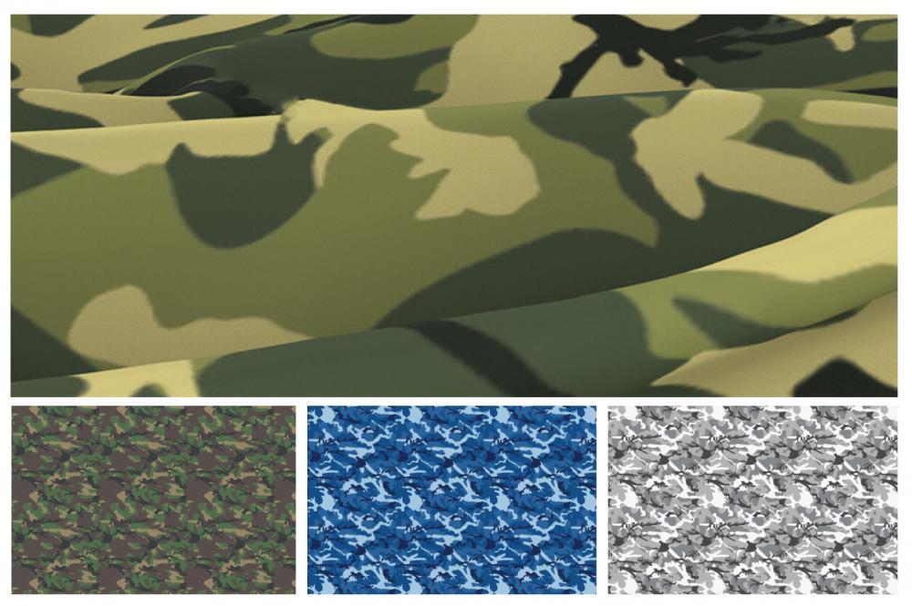 Wärmevorhang-Stoff - Camouflage Natur