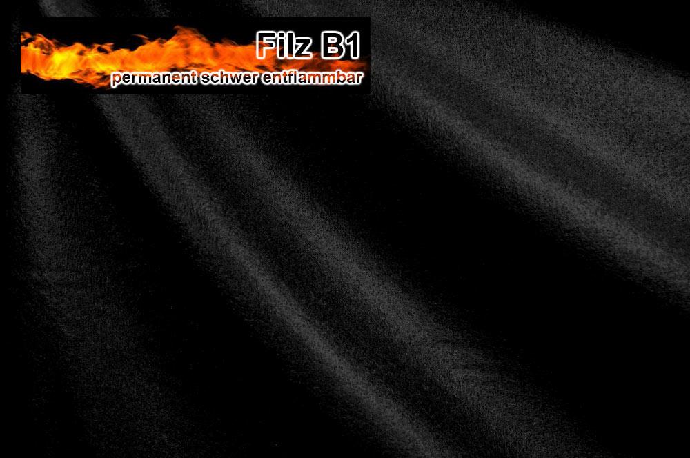 Filz-Gewebe - 320 cm - perm. schwer entflammbar - Schwarz