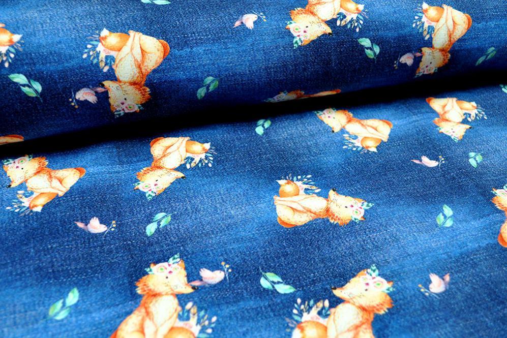 Jeans-Jersey Digital - Hippie-Fuchs