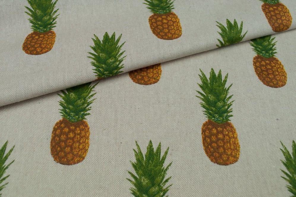 Dekostoff Leinenoptik - Ananas pur