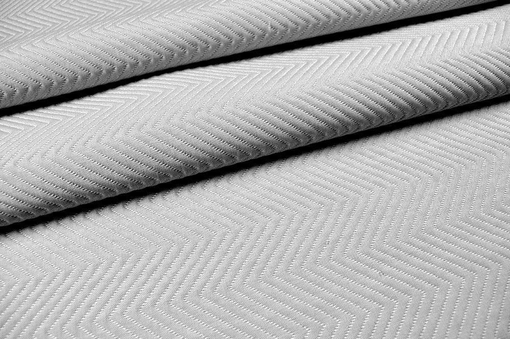 Wärmevorhangstoff Fischgrat - 310 cm - Silber