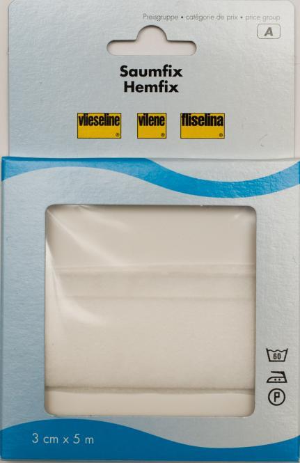 Saumfix 5 m-Stück - 3 cm breit