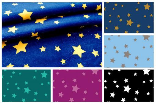 Sterne auf kuscheligem Fleece in tollen Farben