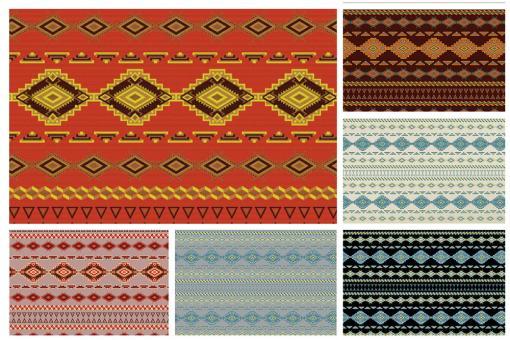 Tipi-Stoff mit Indianer-Muster