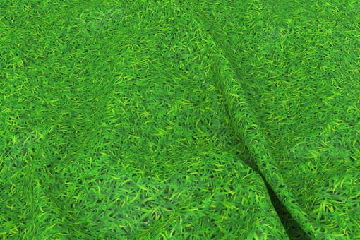 Realistische Gras-Optik auf Wärmevorhang-Stoff