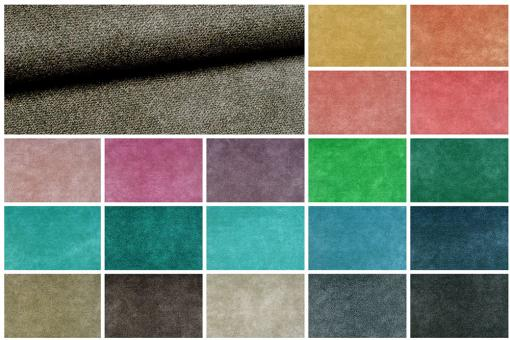 Nubuklederimitat mit melierter Optik in vielen Farben
