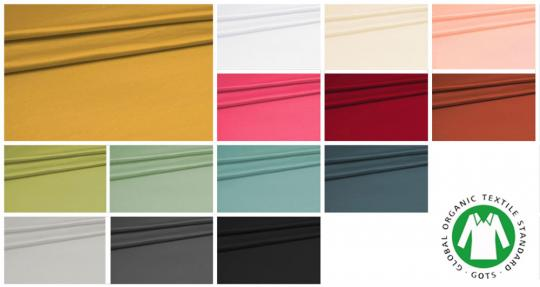 Farbtafel für den GOTS Baumwoll-Jersey
