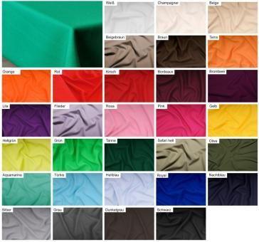 Weicher Tischdeckenstoff in schönen Farben