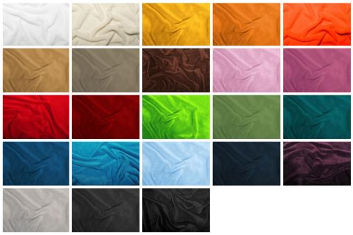 Superweicher Fleece-Stoff in tollen Farben