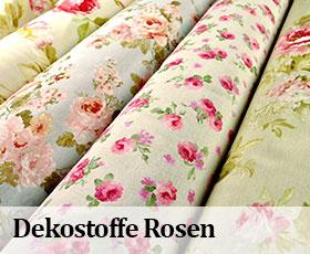 Dekostoffe Rosen - Banner